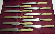Knives E. Peter 4 Rue Flechier A Paris Art Deco 10 Carved Handles Antique