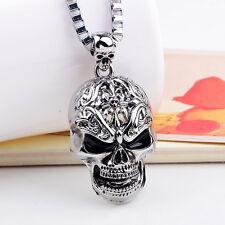 New Jewelry Cool Skull Chain Men's Stainless Steel Necklaces Pendants Men Boy