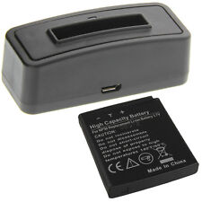 Ladegerät + Akku Typ Fuji NP-50 Batterie Ladestation Accu Battery Ersatzakku