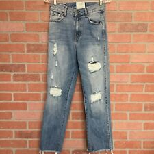 Revise Vice Denim Womens Jeans Size 28 Distressed Destroyed High Waist (3Z6)
