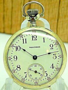 WWI era 0S sterling silver Nurse's Nuns Friars watch Waltham Grade 115 15 jewels
