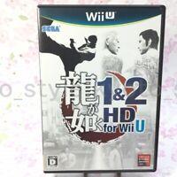 USED Wii U Yakuza 1 & 2 HD for Wii U 42407 JAPAN IMPORT