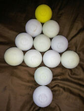 Signature Lacrosse balls white and yellow set of 12 preowned