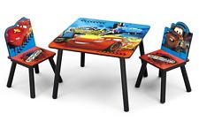 Delta Children Disney Pixar Cars Kids Wooden Table & Chairs Set Bedroom Playroom
