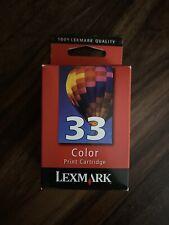 LEXMARK 18C0033 #33 Color Ink Cartridge NIB Genuine