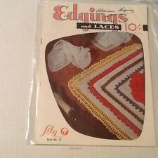 Edgings and Laces Book No 77 1950s Lily Mills Co VGC Vintage Crochet Patterns