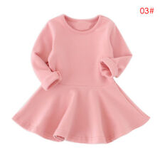Toddler Kids Baby Girls Dress Long Sleeve Clothes Princess Party Pageant Dresses
