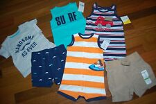 NWT Baby Boys 6m 6 MONTHS CARTER'S JUMPING BEANS 6 piece Spring Summer Lot