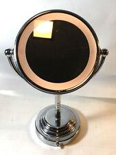 """Conair 11"""" Round Double-Sided Battery Operated Lighted Makeup Mirror 1x/5x"""