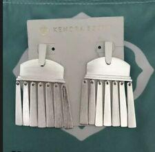 New Kendra Scott Layne Brushed Silver Earrings  $95.00