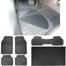 6pc Van Semi-Carpet Rubber Front & Rear Mats Runner Rubber Mats Trunk Mat Set