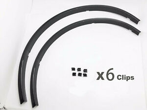 (2) Black Glossy Rear Wheel ARCH Extension Trims For 2007-2014 Smart 451 Fortwo