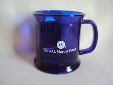 COLLECTIBLE COBALT BLUE GLASS THE AAL MUTUAL FUNDS CUP MUG