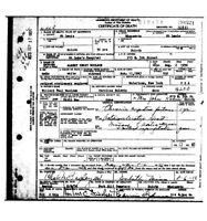 Last Union Civil War Survivor DEATH CERTIFICATE, Albert Woolson
