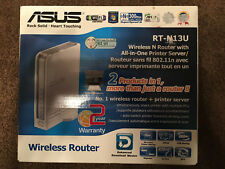 ASUS RT-N13U 54 Mbps 4-Port 10/100 Wireless N Router WIth Printer Server Sealed