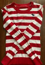"""A*"" Abercrombie youth small red and white sweater"