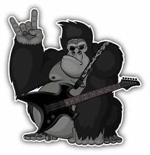 "Monkey Guitar Music Funny Car Bumper Sticker Decal 5"" x 5"""