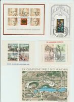 Germany Miniature sheet collection. Special cancels