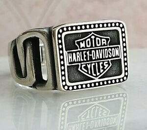 Motorcycle Logo Solide 925 Sterling Silber Mens Ring A++ Quality All Größe