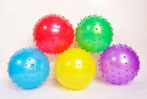 """5Pcs Knobby 7"""" Bouncy Ball Party Favors Kids Ball Kids Toddlers Toy"""