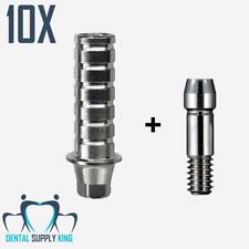 10x Straight Implant Temporary Abutment Osstem regular Fit Hex Hiossen