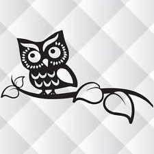 Owl On Branch -  Wall Art  car bumper laptop Vinyl Decal Sticker