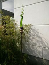 Edelrost Gartenstecker Rost Beetstecker Garten Glasdeko Stecker H140cm Metall