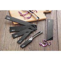 6-Piece Knife Edge Blade Guard Set Black Heavy Duty Structured Kitchen Cutlery