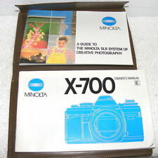 Original Minolta X-700 Manual & A Guide to Minolta SLR System of Creative Photo