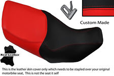 BRIGHT RED & BLACK CUSTOM FITS HONDA XL 1000 V VARADERO 99-07 DUAL SEAT COVER