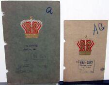 1907 & 1911 Empire Tire Company Auto Tires & Accessories Catalogs Brochures Pair