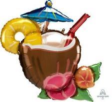 "Coconut Drink Pina Colada Hawaiian Summer Beach Party Decorations Cocktail ~ 30"""