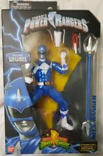 ?Power Rangers Legacy ~ METALLIC BLUE RANGER ACTION FIGURE ~ Bandai see disc.