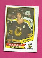 RARE 1976-77 OPC WHA # 17 STINGERS RICK DUDLEY  EX-MT CARD (INV# C3986)