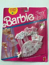 1990 Vintage Barbie Fashion FANCY FRILLS #5287 - MOC WHITE LINGERIE 2 LOOKS
