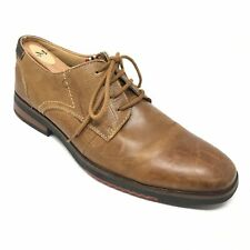 Men's Steve Madden Casual Oxfords Shoes Size 9M Brown Leather Plain Toe A13