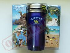 CAMEL SUMMER VERANO CIGARETTE 4 PACKS SET DISPLAY + CUP *  EMPTY - MEXICO 2000s
