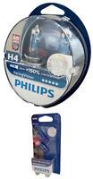 H4 PHILIPS Racing Vision +150% X-treme 12V 60/55W P43t 2er Set + W5W 12342RVS2