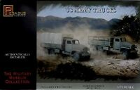 Pegasus 1/72 WWII U.S. Army Truck Model Kit 2 Trucks Snap Together NEW BOXED!