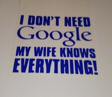 I don't need google , car decal/ sticker for windows ,panels ,bumpers or laptops