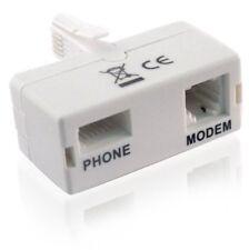Filtro ADSL microfiltro de banda ancha y teléfono Zócalo BT aprobada/RJ11/Blanco