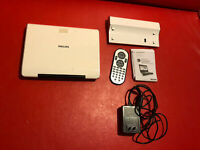 White Philips Portable DVD Player PET824 with Ac Adapter and Remote And Battery