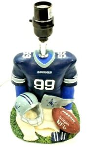 """DALLAS NFL COWBOYS Table Lamp Football Jersey 99 11"""" H x 6"""" W  #S11910 ~ WORKS"""
