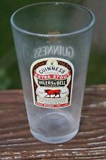 Guinness Foreign Extra Stout Red Bull Label Pint Glass