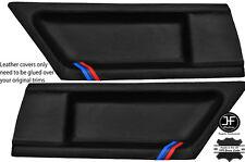 Strisce nere Stitch M 2x Scheda Porta Posteriore LTHR copre si adatta BMW e36 COUPE 91-98