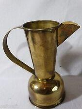 ANTIQUE Holland Brass Jug Handled Pitcher