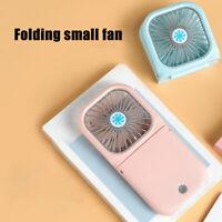 3000mAh Portable USB Hanging Neck Folding Mini Fan 3-Gear Summer Air Cooler