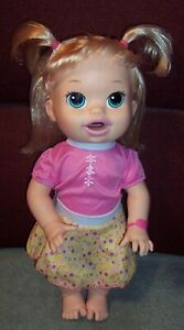 2014 Baby Alive Doll Speaks Spanish & English Soft Face Eats & Poops GUC