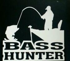 Bass Hunter Window decal Hunting fishing decals