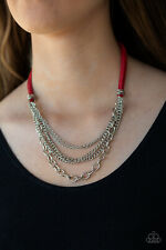Free Roamer Red Necklace By: Paparazzi